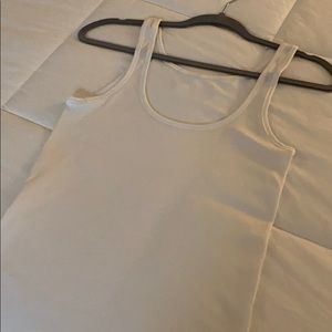 Lululemon Seamless White Tank